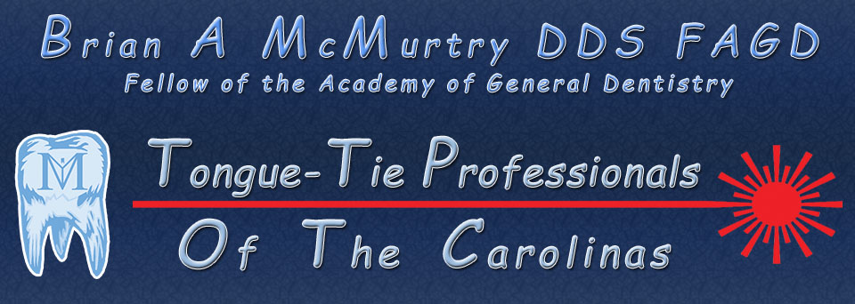 tongue tie lip tie banner logo